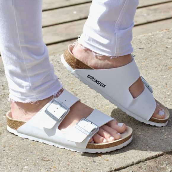 335928d5dd155d Birkenstock Shoes - White Birkenstock Arizona